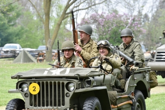 GIs in Period Jeep