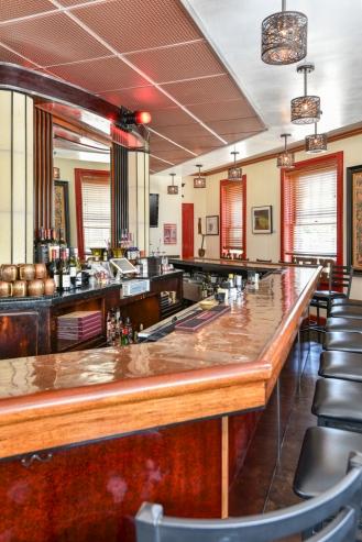 Original Copper Exterior Trim Now Used for Bar Top
