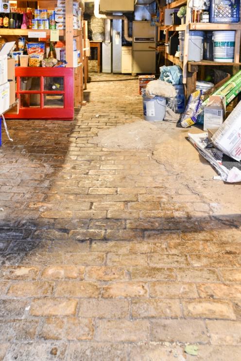 Brick Floor in Basement